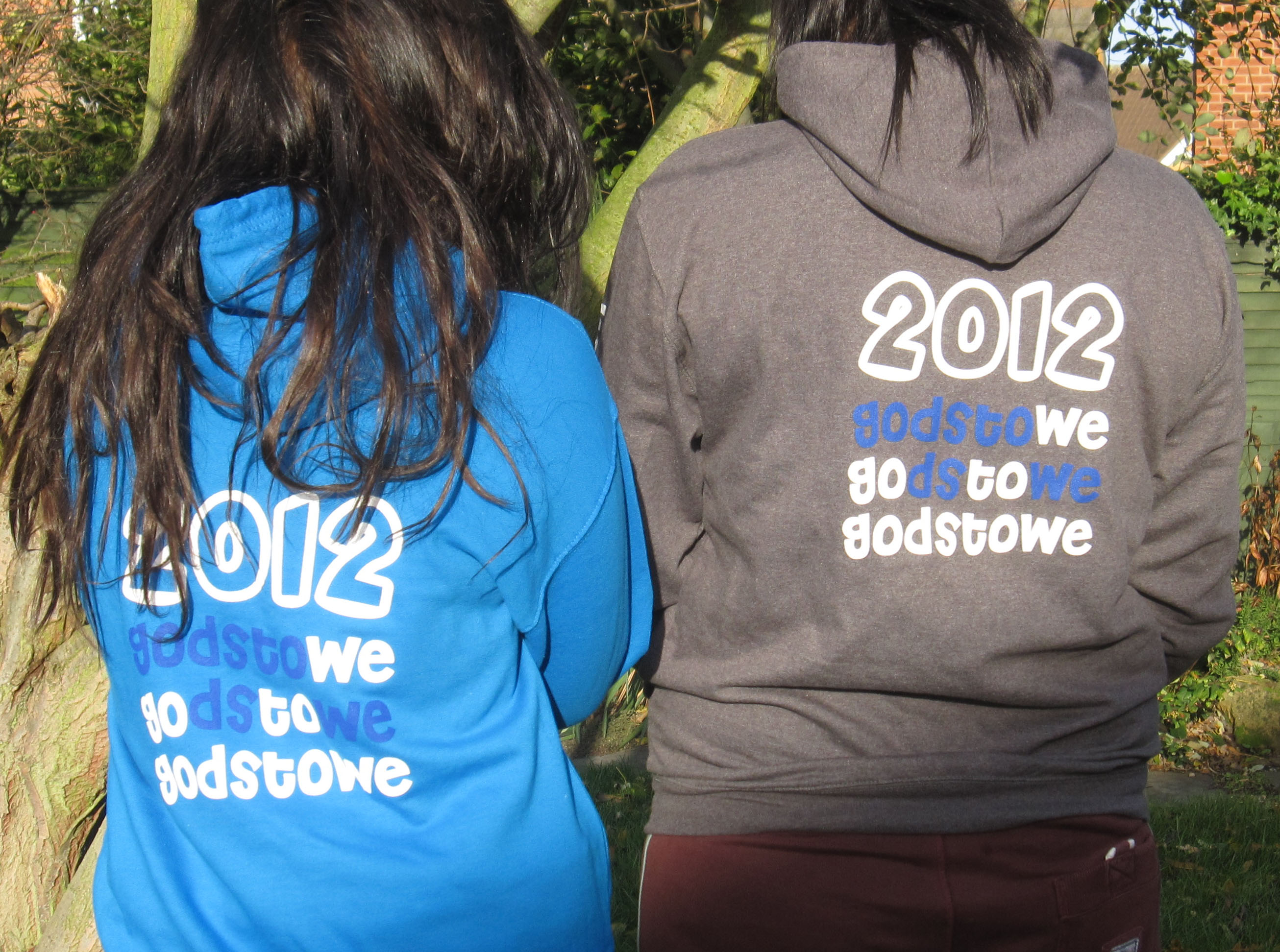 With their fifth successive order, they have cleverly used the letters within the school name to refresh their hoodies for 2012, along with the option of a